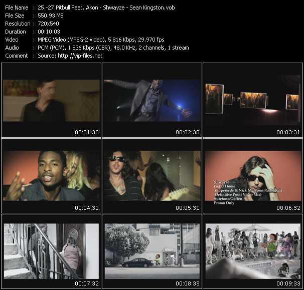 Pitbull Feat. Akon - Shwayze - Sean Kingston - Shut It Down - Get U Home (Supersede And Nick Morrison Radio Edit-Definitive Point Video Mix) - Face Drop (Johnny Vicious Radio Edit)
