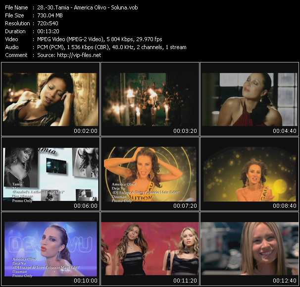 Tamia - America Olivo - Soluna - Me (Rosabel's Anthem Vocal Mix) - Deja Vu (DJ Escape And Tony Coluccio Main Edit) - For All Time (Dance Mix Edit)