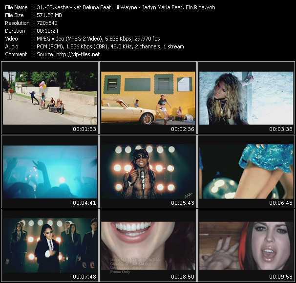 Kesha - Kat DeLuna Feat. Lil' Wayne - Jadyn Maria Feat. Flo Rida - Tik Tok - Unstoppable - Good Girls Like Bad Boys