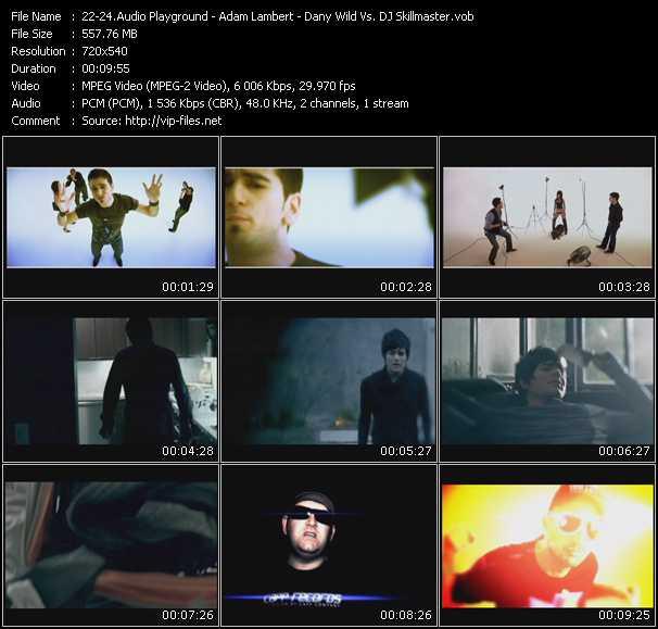 Audio Playground - Adam Lambert - Dany Wild Vs. DJ Skillmaster - A Little Respect - Whataya Want From Me (Fonzerelli Electro House Club Edit) - Holding On (Original Video Mix)