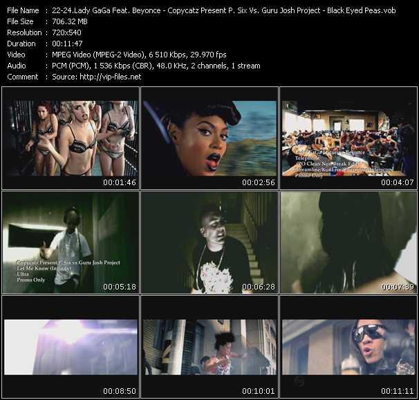 Lady GaGa Feat. Beyonce - Copycatz Present P. Six Vs. Guru Josh Project - Black Eyed Peas - Telephone (PO Clean Non Break Edit) - Let Me Know (Infinity) - Rock That Body (Single Version)