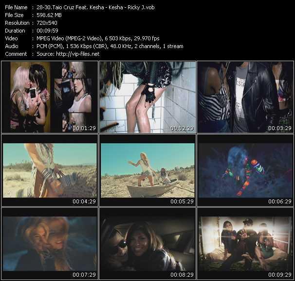 Taio Cruz Feat. Kesha - Kesha - Ricky J - Dirty Picture - Your Love Is My Drug - Whatta Night