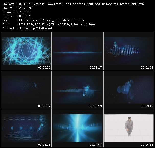 Justin Timberlake - Lovestoned - I Think She Knows (Matrix And Futurebound Extended Remix)