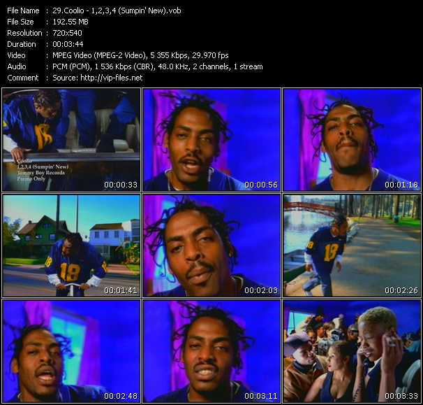 Coolio - 1,2,3,4 (Sumpin' New)