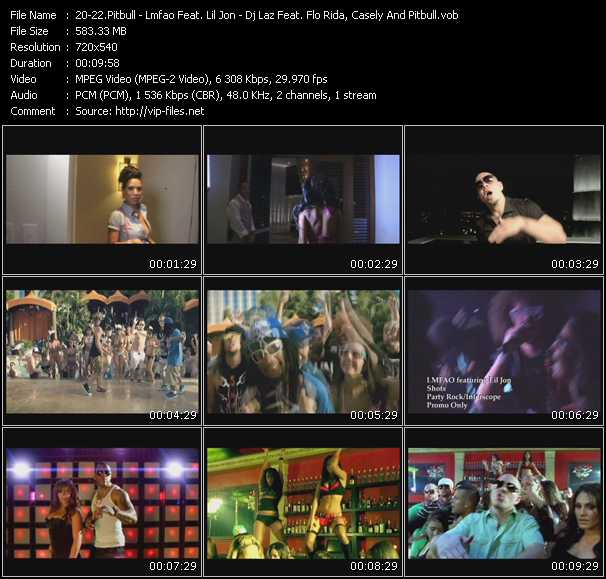 Pitbull - Lmfao Feat. Lil' Jon - Dj Laz Feat. Flo Rida, Casely And Pitbull - Hotel Room Service - Shots - Move Shake Drop