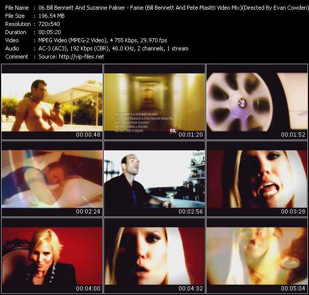 Bill Bennett And Suzanne Palmer - Fame (Bill Bennett And Pete Masitti Video Mix) (Directed By Evan Cowden)