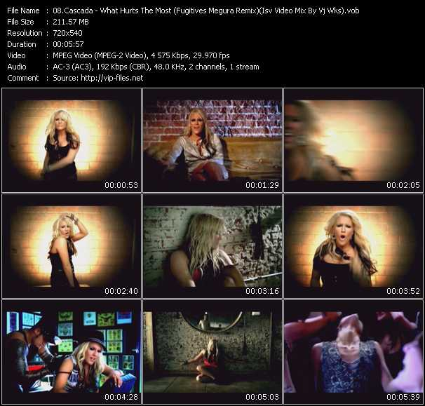 Cascada - What Hurts The Most (Fugitives Megura Remix) (Isv Video Mix By Vj Wks)