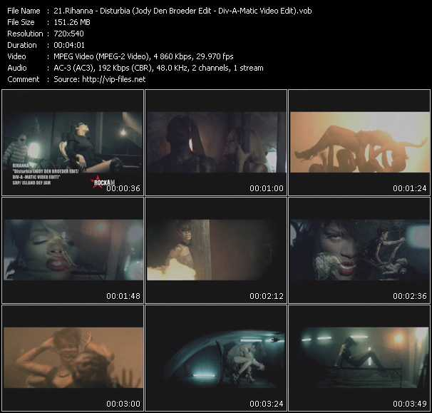 Rihanna - Disturbia (Jody Den Broeder Edit) (Div-A-Matic Video Edit)