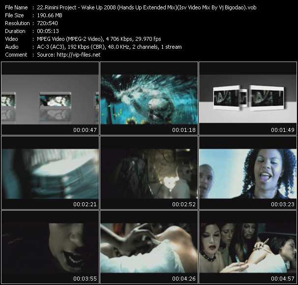 Rimini Project - Wake Up 2008 (Hands Up Extended Mix) (Isv Video Mix By Vj Bigodao)