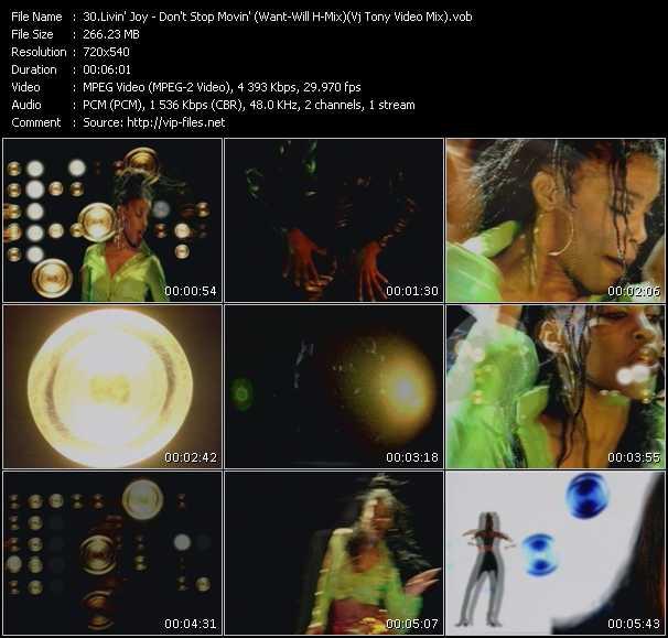 Livin' Joy - Don't Stop Movin' (Want-Will H-Mix) (Vj Tony Video Mix)