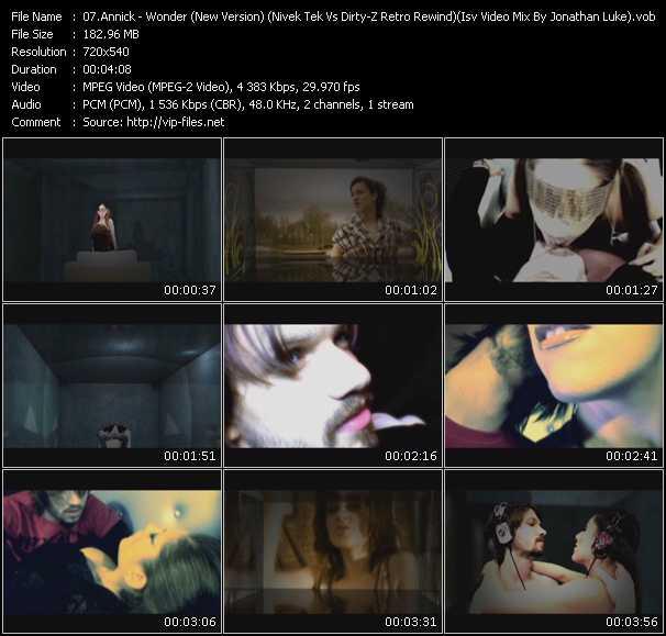 Annick - Wonder (New Version) (Nivek Tek Vs Dirty-Z Retro Rewind) (Isv Video Mix By Jonathan Luke)