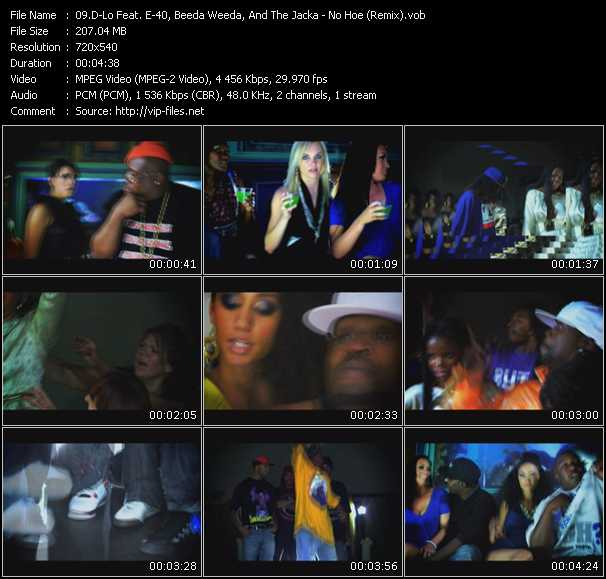 D-Lo Feat. E-40, Beeda Weeda, And The Jacka - No Hoe (Remix)
