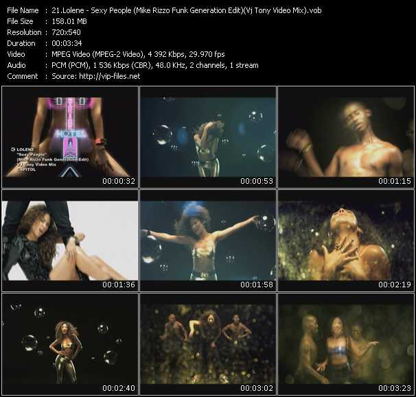 Lolene - Sexy People (Mike Rizzo Funk Generation Edit) (Vj Tony Video Mix)