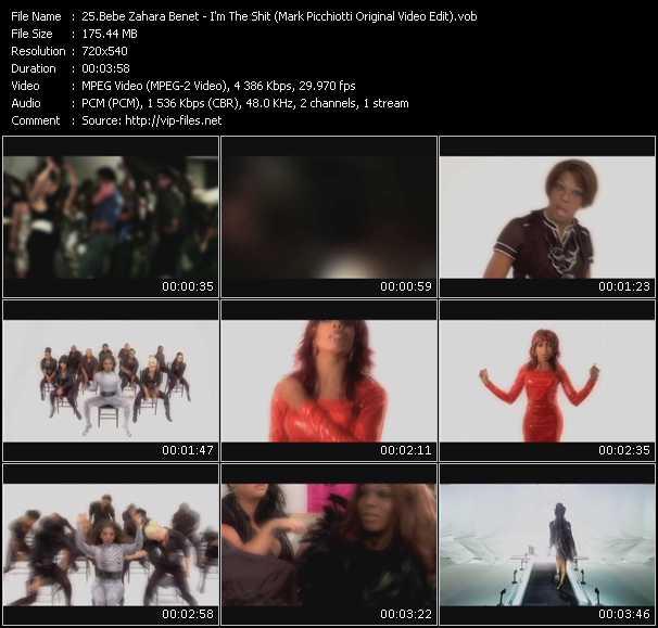 Bebe Zahara Benet - I'm The Shit (Mark Picchiotti Original Video Edit)