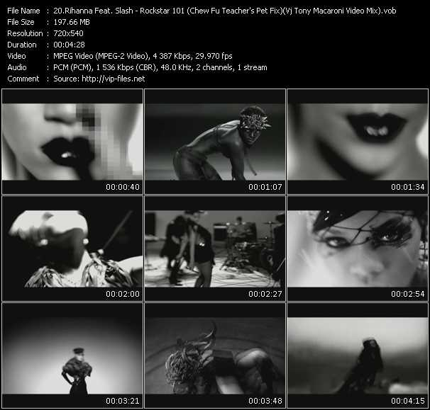 Rihanna Feat. Slash - Rockstar 101 (Chew Fu Teacher's Pet Fix) (Vj Tony Macaroni Video Mix)