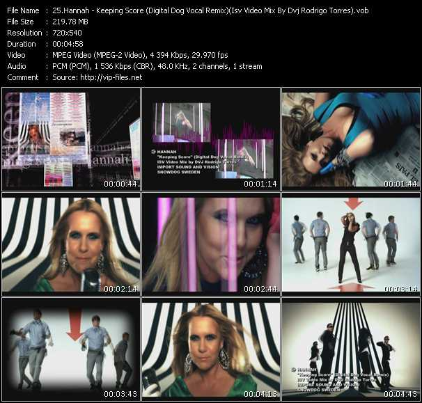 Hannah - Keeping Score (Digital Dog Vocal Remix) (Isv Video Mix By Dvj Rodrigo Torres)
