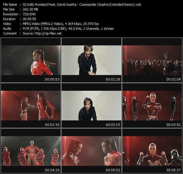 Kelly Rowland Feat. David Guetta - Commander (Guetta Extended Remix) (Vj Tony Macaroni Video Mix)
