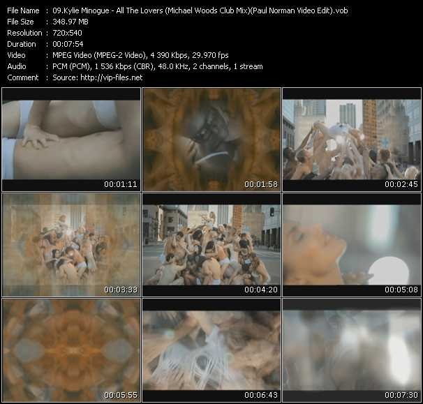 Kylie Minogue - All The Lovers (Michael Woods Club Mix) (Paul Norman Video Edit)
