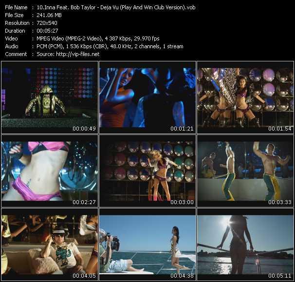 Inna Feat. Bob Taylor - Deja Vu (Play And Win Club Version) (Vj Tony Macaroni Video Mix)