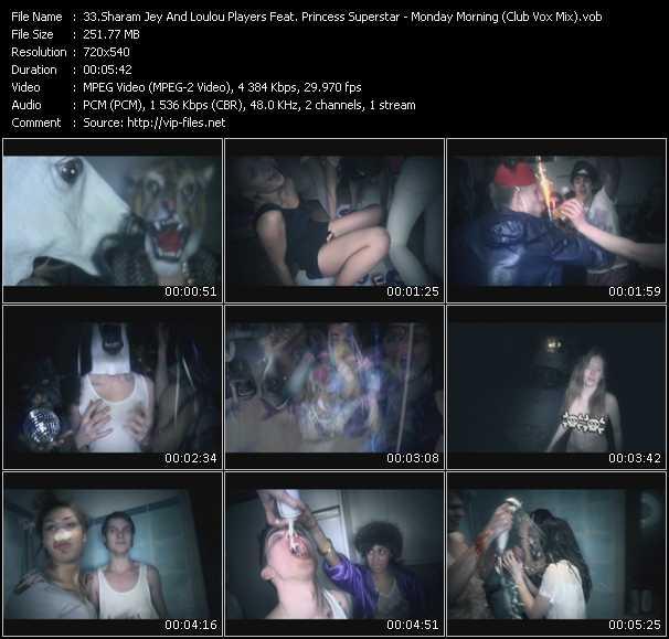 Sharam Jey And Loulou Players Feat. Princess Superstar - Monday Morning (Club Vox Mix) (Dj Dem Rok Video Edit)