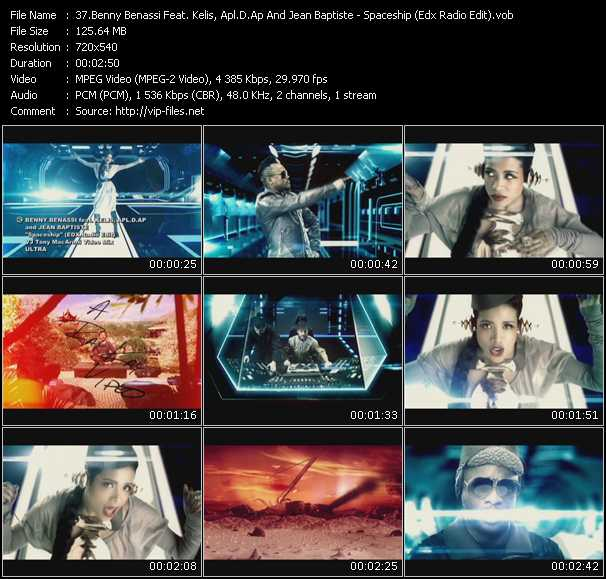 Benny Benassi Feat. Kelis, Apl.De.Ap And Jean-Baptiste - Spaceship (Edx Radio Edit) (Vj Tony Macaroni Video Mix)