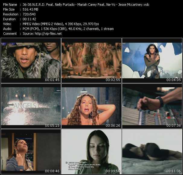 N.E.R.D. Feat. Nelly Furtado - Mariah Carey Feat. Ne-Yo - Jesse McCartney - Hot-n-Fun (Starsmith Mix) (Vj Tony MacAroni Video Mix) - Angels Cry (Jump Smokers Remix) (Vj Tony MacAroni Video Mix) - Leavin' (Bimbo Jones Radio Edit) (Vj Tony MacAroni Video Mix)