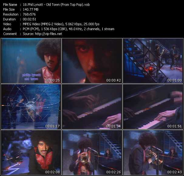 Phil Lynott - Old Town (From Top Pop)