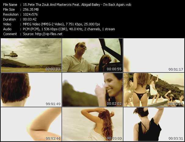 Pete Tha Zouk And Mastercris Feat. Abigail Bailey - I'm Back Again