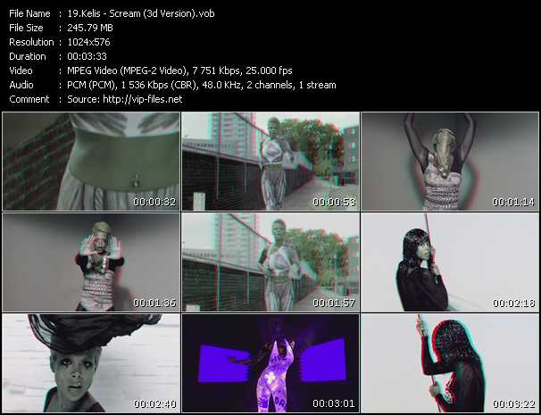Kelis - Scream (3D Version)