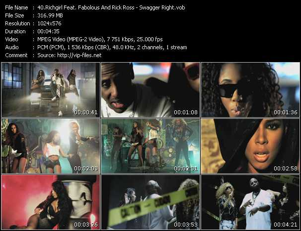 Richgirl Feat. Fabolous And Rick Ross - Swagger Right