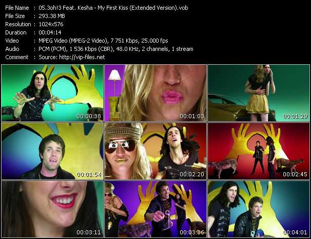 3oh!3 Feat. Kesha - My First Kiss (Extended Version)