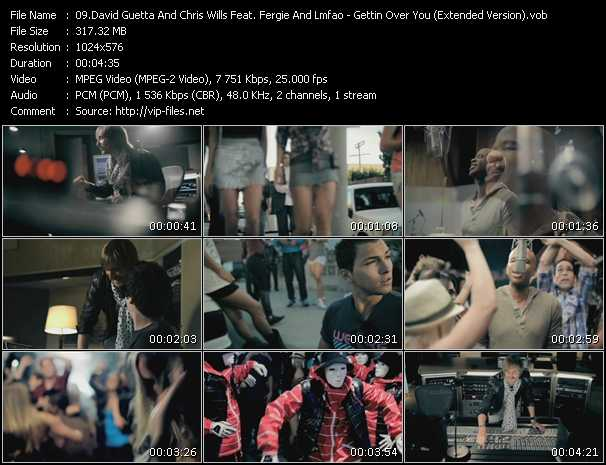 David Guetta And Chris Willis Feat. Fergie And Lmfao - Gettin Over You (Extended Version)