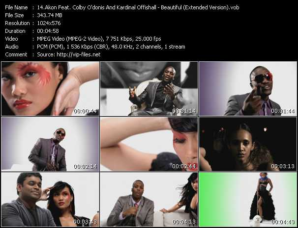 Akon Feat. Colby O'Donis And Kardinal Offishall - Beautiful (Extended Version)