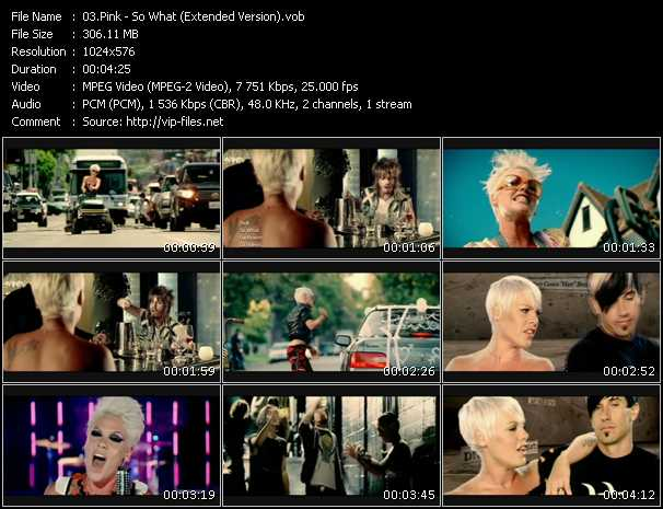 Pink - So What (Extended Version)