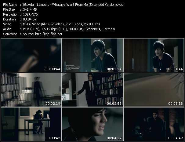 Adam Lambert - Whataya Want From Me (Extended Version)