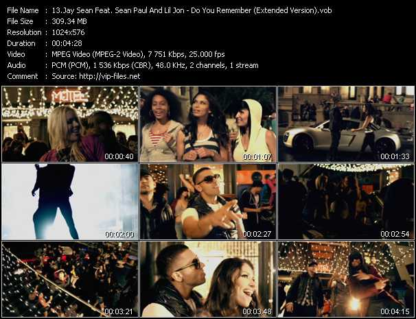 Jay Sean Feat. Sean Paul And Lil' Jon - Do You Remember (Extended Version)