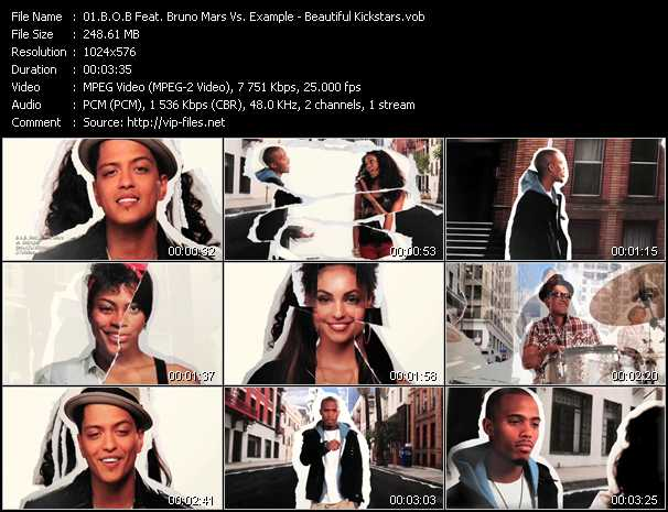 B.O.B. Feat. Bruno Mars Vs. Example - Beautiful Kickstars