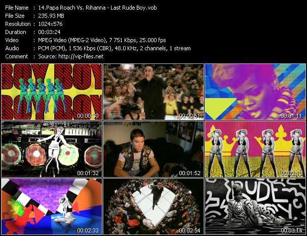 Papa Roach Vs. Rihanna - Last Rude Boy