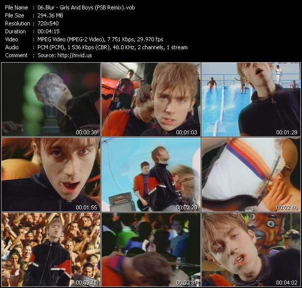 Blur - Girls And Boys (PSB Remix)