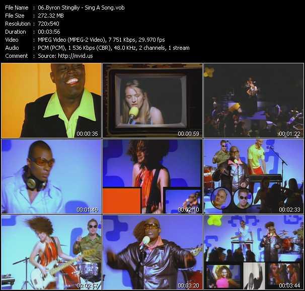 Byron Stingily - Sing A Song