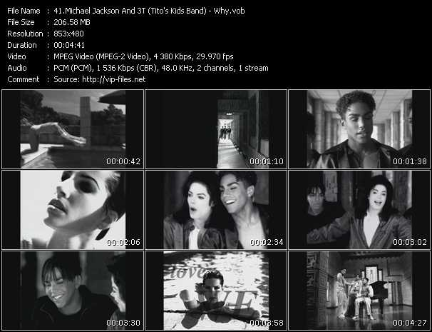 Michael Jackson And 3T (Tito's Kids Band) - Why