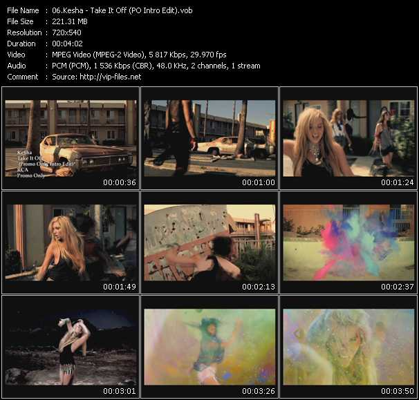 Kesha - Take It Off (PO Intro Edit)