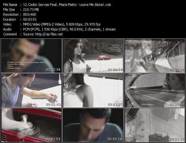 Cedric Gervais Feat. Maria Matto - Leave Me Alone!