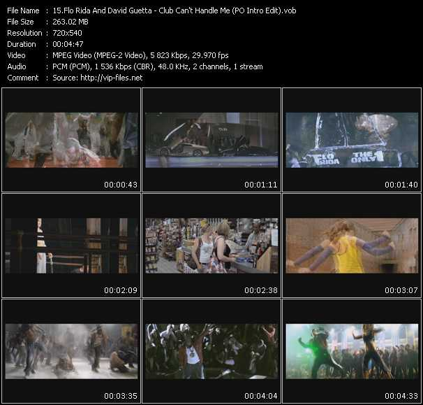 Flo Rida Feat. David Guetta - Club Can't Handle Me (PO Intro Edit)