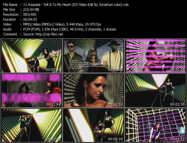Raquela - Tell It To My Heart (ISV Video Edit By Jonathan Luke)