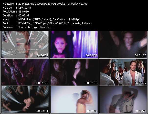 Massi And DeLeon Feat. Paul Lekakis - I Need A Hit