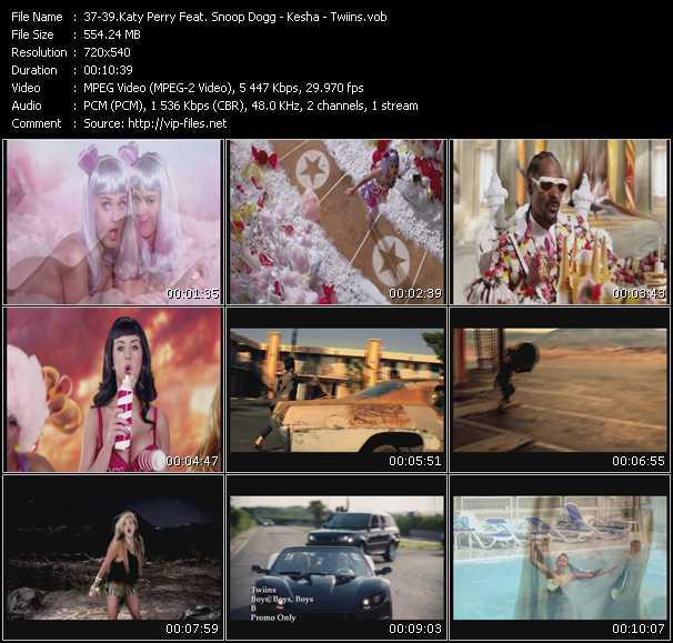 Katy Perry Feat. Snoop Dogg - Kesha - Twiins - California Gurls - Take It Off - Boys, Boys, Boys