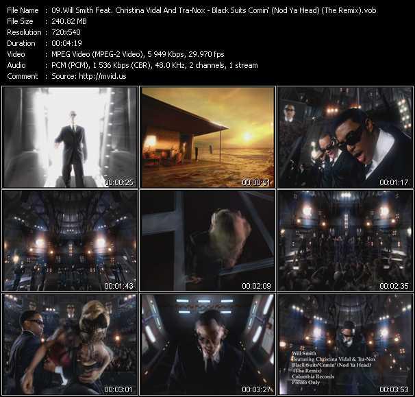 Will Smith Feat. Christina Vidal And Tra-Knox - Black Suits Comin' (Nod Ya Head) (The Remix)