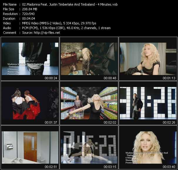 Madonna Feat. Justin Timberlake And Timbaland - 4 Minutes