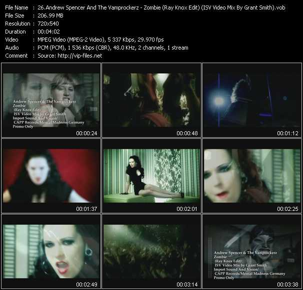 Andrew Spencer And The Vamprockerz - Zombie (Ray Knox Edit) (ISV Video Mix By Grant Smith)